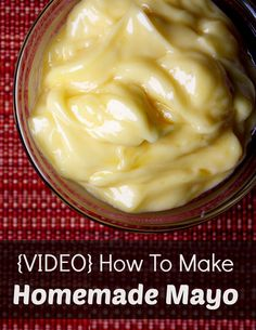I make mayo from time to time . I need to promise myself I wont buy GMO mayo anymore! - thick, creamy homemade mayo recipe with a video tutorial Homemade Mayo Recipe, Homemade Mayonnaise, Mayonnaise Recipe, Chipotle Mayonnaise, Homemade Sauce, Paleo Recipes, Whole Food Recipes, Cooking Recipes, Free Recipes
