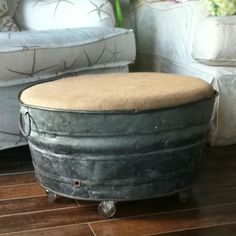 How to Reuse Galvanized buckets? - If you are fond of DIY activities and have performed some of those already then you will surely love to reuse galvanized buckets. It will be great fun. Repurposed Items, Repurposed Furniture, Diy Furniture, Dresser Repurposed, Furniture Movers, Country Decor, Rustic Decor, Farmhouse Decor, Galvanized Buckets