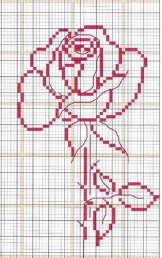 Image result for beauty and the beast rose cross stitch