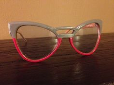 Vintage Designer Two Tone Sunglasses with Grey and by DIYstylist, $19.99
