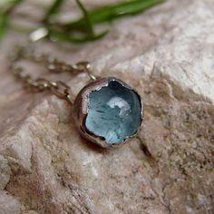 srebro,akwamaryn,wisiorek,delikatny - Wisiory - Biżuteria w ArsNeo