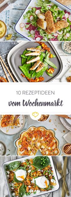 [Anzeige] Koch dich durch 10 frische Rezeptideen vom Wochenmarkt [In Kooperation mit Maggi] Party Finger Foods, Lunch To Go, Calories, Food Lists, Maggi, Clean Eating, Veggies, Low Carb, Ethnic Recipes