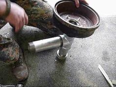 Brake Drum Forge - similar to my wheel forge.  You can make on in just a couple of hours. Use a shop vac to blow air into the fire, and you are ready for action!  I don't even use coal - I have enough wood scraps that I don't usually need coal for a hotter fire...