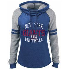 Women s New York Giants 5th   Ocean by New Era Royal Long Loop French Terry  Cowl Neck Pullover Hoodie e5a3b5b52
