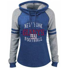 Women's New York Giants '47 Brand Royal Blue Hampton Pullover Hoodie
