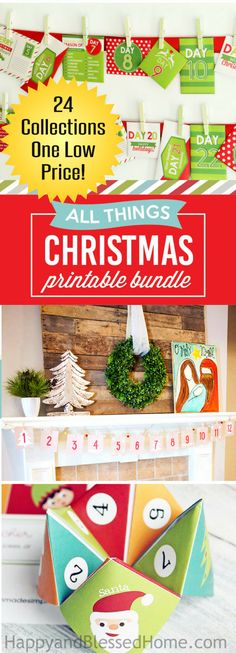 3 DAYS Only! 11/16-11/18/16 24 Collections of Christmas Printables including: Beautiful Christmas Prints, Christmas Gifts Ideas, Stocking Stuffers, Meaningful Family Countdowns, Advent, Delicious Holiday Recipes, Party Printables, AND SO MUCH MORE!