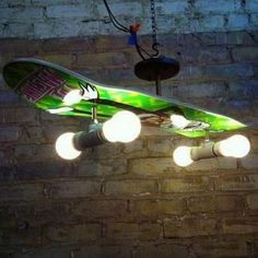 skateboard lamp - cool for a boys room!