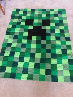 Mine r Craft ing Creeper Quilt Twin Size by Amy305 on Etsy https://www.etsy.com/listing/169886696/mine-r-craft-ing-creeper-quilt-twin-size