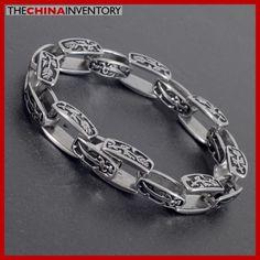 9` MEN`S STAINLESS STEEL SWORD CHAIN BRACELET B3701 Initial Pendant, Sword, Initials, Fine Jewelry, Stainless Steel, Chain, Diamond, Bracelets, Silver