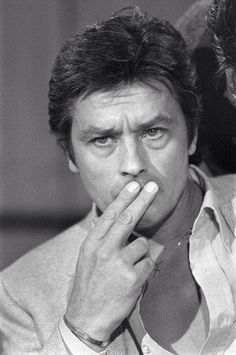 portrait taken on October 1980 shows French actor Alain delon on . Alain Delon, Star Francaise, French Man, Violet Eyes, Romy Schneider, Monster S, Actors, Hollywood Actor, Black And White