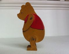VINTAGE OLD WINNIE THE POOH WOODEN TOY FIGURES (POSSIBLY POMONA?) | eBay