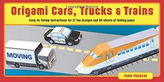 Origami Cars, Trucks & Trains Kit: [Origami Kit with 2 Books, 96 Papers, 27 Projects] -- You can get additional details at the image link.