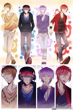 Frmk Fnnie || Fashion Boys (+Speedpaint) by SaitouHime145