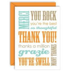 great thank you note cards