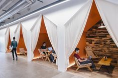 Conversation nooks are plentiful at Airbnb. When Airbnb recently expanded its Brannan Street office in San Francisco, it didn't just build more of the same. Its design firms interviewed employees, who requested more small rooms for casual meetings and private conversations. CREDIT: Jeremy Bitterman