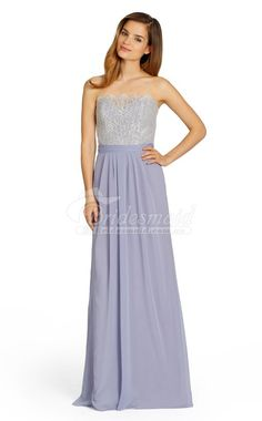 Lilac Chiffon , Lace A-line Strapless Floor-length Vintage Bridesmaid Dresses Vintage Bridesmaid Dresses, Wedding Party Dresses, Bridesmaid Ideas, Blue Bridesmaids, Bridesmaid Gowns, Dress Party, Formal Gowns, Strapless Dress Formal, Evening Dresses