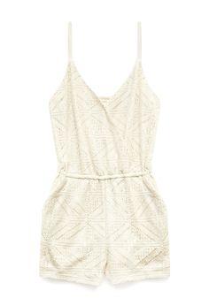 Somewhere Sunny Crochet Romper | FOREVER21