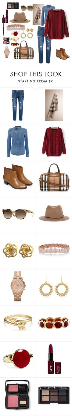 """""""January-2016"""" by kaldynilequeen ❤ liked on Polyvore featuring Current/Elliott, Burberry, Levi's, Warehouse, rag & bone, Anita Ko, Marc by Marc Jacobs, Carolee, Bling Jewelry and Ippolita"""