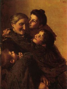 Gaetano Bellei (1857-1922) La Nonna