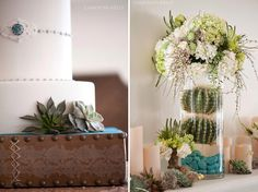 Southwest inspired cake and center pieces