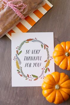 """So very thankful for you"" Free Printable Tag"