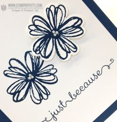 Stampin up stampinup stamp it mary fish pretty flower shop pansy punch dozen thought card idea