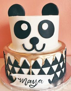 Bakery is located in the heart of downtown New Braunfels, Texas and focuses on producing quality baked goods completely from scratch daily. Panda Cakes, Hip Hop Party, Animal Cakes, Bakery Cafe, Birthday Cake, Birthday Ideas, Cake Art, Baked Goods, Bolo Fake