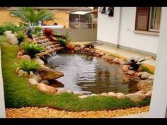 Backyard Pond Landscaping Small Gardens Landscaping Designs for a Backyard Pond Backyard Pond Landscaping Small Gardens. Landscaping designs that are going around or near a pond can be a little tri… Backyard Water Feature, Ponds Backyard, Backyard Ideas, Backyard Waterfalls, Pond Ideas, Large Backyard, Pond Design, Landscape Design, Fountain Design