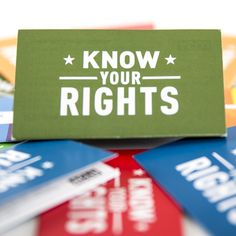 ACLU Know Your Rights Variety Pack (Demonstrations and Protests; Stopped by Police; Stopped or Detained for Photographing or Videotaping)
