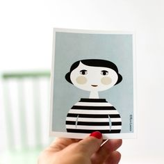 "Postkarte ""Mia"" von Ruth Landesa"