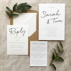 Are you interested in our simple wedding invitations? With our minimalist wedding you need look no further.