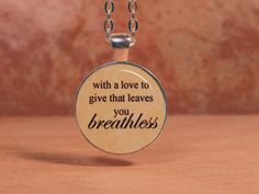 """Asking Alexandria """"With a love to give that leaves you breathless"""" Pendant Necklace Inspiration Jewelry"""