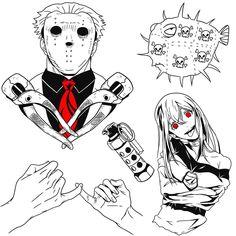 Arm Tattoos For Guys, Future Tattoos, Grunge Tattoo, Dot Work, Kawaii, Anime Tattoos, Dark Anime, Tattoo Drawings, Tattos