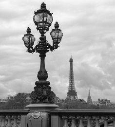 Lamppost on Seine River, Paris