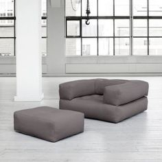 green, orange, grey or blue - CUBIC, a futon armchair convertible into a pouf or comfortable and cozy bed Rattan, Convertible, Extra Bed, Compact Living, Piece A Vivre, Nordic Design, Cozy Bed, Small Apartments, Futons