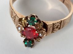 Antique 14K rose gold ring dated 1893 by VictoriaVVintage on Etsy