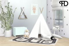 Jace Tipi Set Hi everyone! I have created a small set for a kids room or a nursery. It is an other conversion/recoloring set with 8 new items! I hope you guys like it as much as I do. It is inspired...