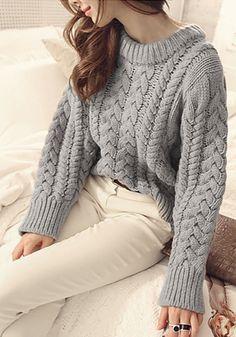 Grey Chunky Sweater on Behance