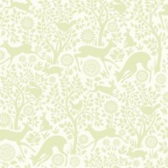 Brewster HAS01235 Anahi Light Green Forest Fauna Wallpaper Light Green Forest Home Decor Wallpaper Wallpaper
