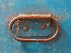 Blue Industrial Metal Storage Tin  from Scaramanga's Industrial Furniture Collection