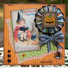 Card for The Kraft Journal 'Spooky Stuff' challenge | Flickr - Photo Sharing!