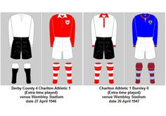 FA Cup Final Playing Kits 1945-46 to 1968-69 | My Football Facts World Cup Winners, Fa Cup Final, England Football, Football Kits, Fifa World Cup, Finals, Facts, Soccer Kits, Soccer Equipment
