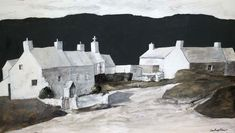 Abereiddy Cottages, John Knapp-Fisher. English, born in 1931.