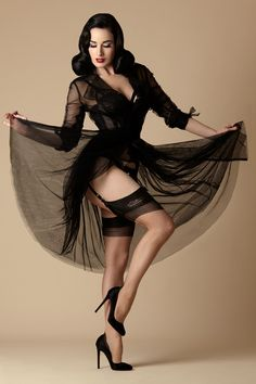Dita Von Teese Collection - Dita Glamour French Heel, Size M Dita Von Teese, Stockings And Suspenders, Black Stockings, Nylon Stockings, Pin Up, Retro Lingerie, Sexy Lingerie, Beautiful Lingerie, Beautiful Clothes