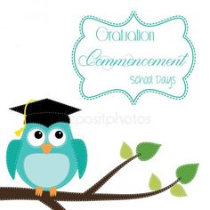 Owl with graduation cap sitting on branch Wood Dog Crate, Dog Crate Furniture, Custom Dog Beds, Custom Dog Houses, Wise Owl, Graduation Gifts, Classroom Decor, Special Day, Cardmaking