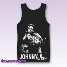 New Rare Johnny Cash Tank Top M L XL XXL #tanktop