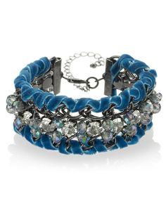 Per Una Diamanté & Multi-Faceted Bead Bracelet