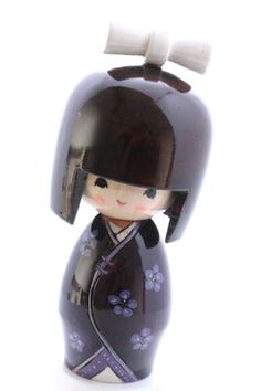 Japanese Creation Kokeshi Doll Good Day Blue Usaburo Luxuriant In Design small