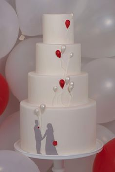 balloon theme, cream colored cake with tiffany blue and orange colored balloons would work for me