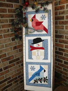 I recently completed this Winter Wall Hanging.         It went through a few design stages         but I'm pleased with the final result.  ...
